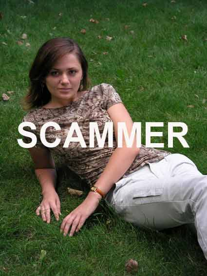 Russian woman on dating sites scam