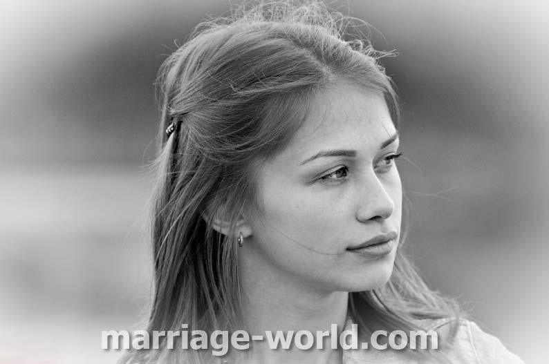 Ukrainian woman in love