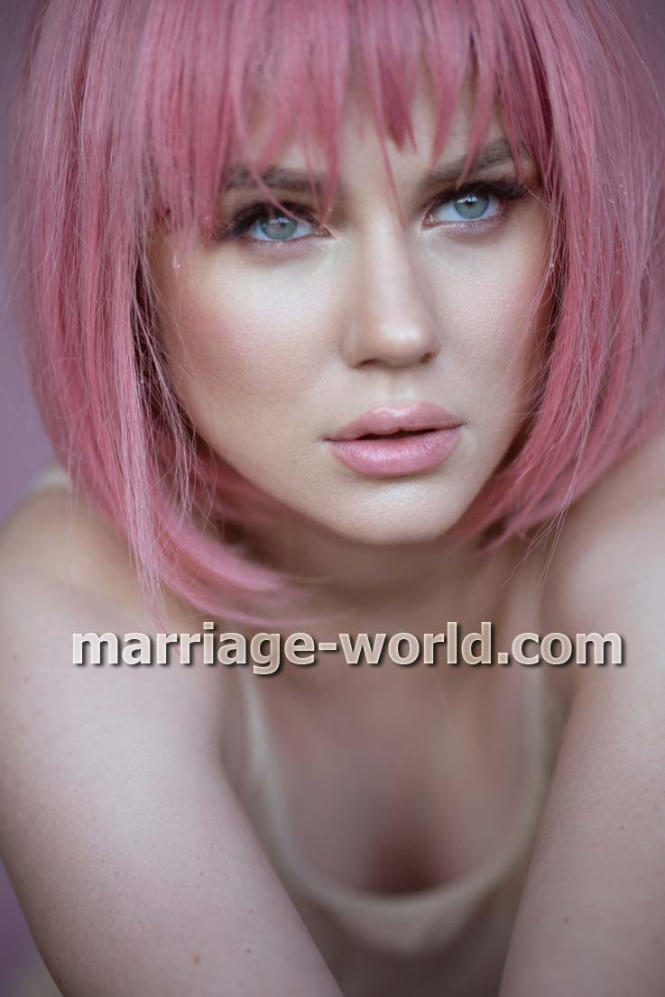 ukrainian woman pink hair