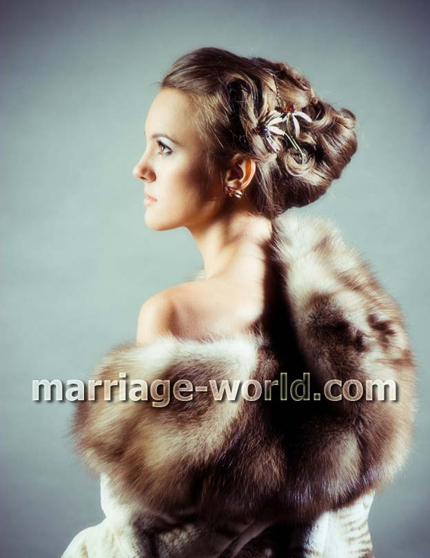 russian girl in fur coat